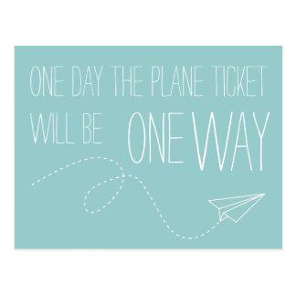 Un día el boleto plano será una postal de la maner