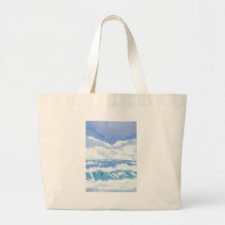 Un día en el arte del día soleado de las olas oceá bolsas
