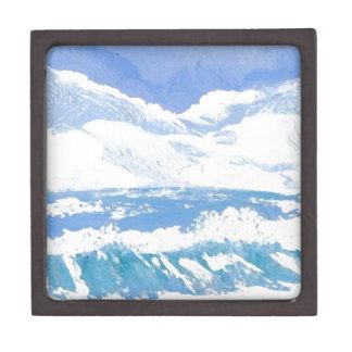 Un día en el arte del día soleado de las olas oceá caja de joyas de calidad
