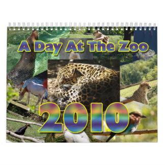 Un día en el calendario del parque zoológico 2010