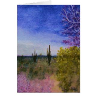 Un día en el desierto de Arizona Tarjeta De Felicitación
