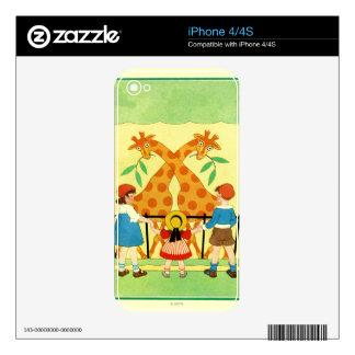 Un día en el parque zoológico iPhone 4S skin