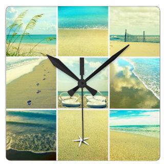 Un día en el reloj de pared de la playa