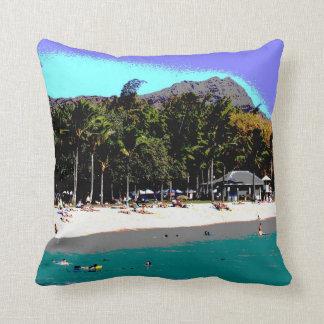 Un día en la almohada de la playa de Waikiki