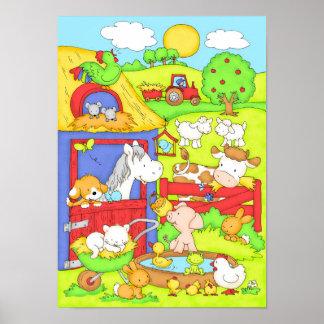 Un día en la granja póster