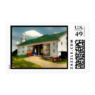 Un día en la granja sello