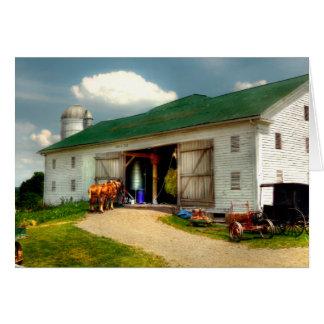 Un día en la granja tarjeta de felicitación