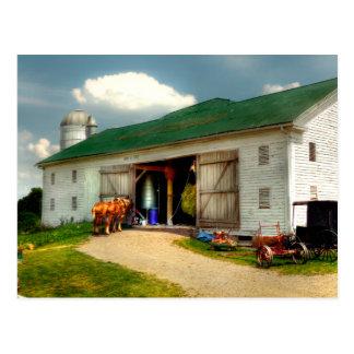Un día en la granja tarjetas postales