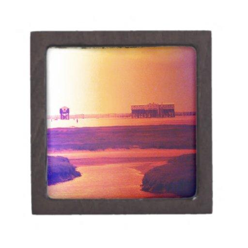 Un día en la playa caja de recuerdo de calidad