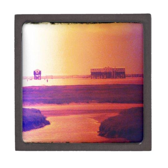Un día en la playa cajas de recuerdo de calidad