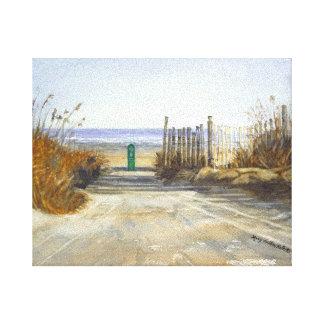 Un día en la playa lona envuelta para galerías