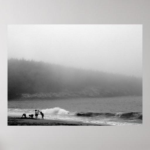 Un día en la playa - Maine Póster