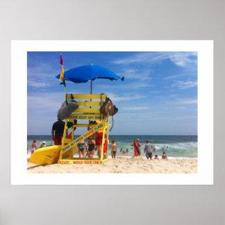 Un día en la playa póster
