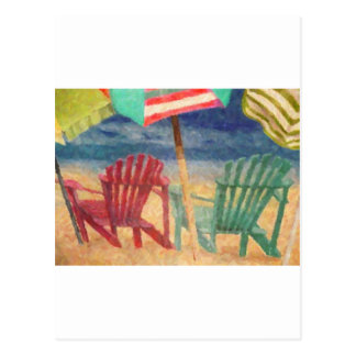Un día en la playa postal
