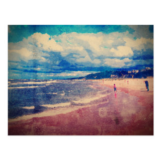 Un día en la playa tarjeta postal