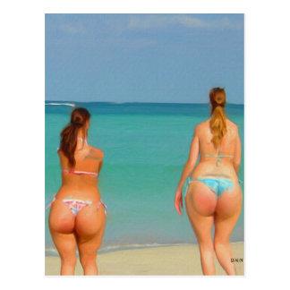 Un día en la playa tarjetas postales