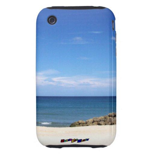 Un día en la playa - vertical iPhone 3 tough carcasa