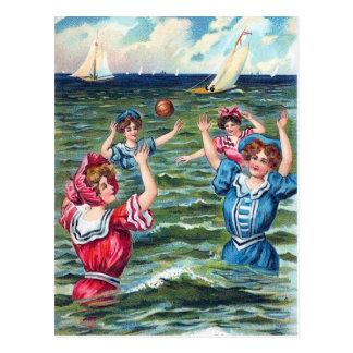 Un día en la tarjeta de felicitación de la playa 0 tarjetas postales