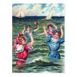 Un día en la tarjeta de felicitación de la playa tarjeta postal