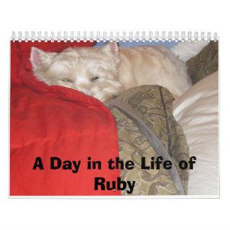 Un día en la vida del rubí--El arte de Napping Calendario