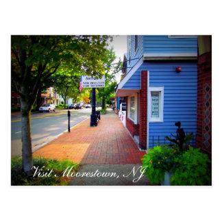 Un día en Moorestown, NJ Tarjeta Postal