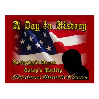 Un día en regalos de la inauguración de Obama de Tarjeta Postal