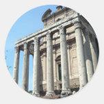 Un día en Roma Etiquetas Redondas