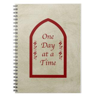 Un día en Tiempo-Borgoña FrameVintage Libros De Apuntes Con Espiral
