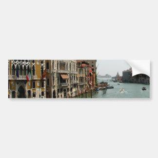 Un día en Venecia Etiqueta De Parachoque