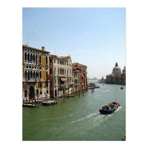 Un día en Venecia Membrete A Diseño