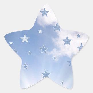 Un día estrellado pegatina en forma de estrella