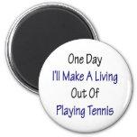 Un día haré A que vive fuera de jugar a tenis Iman