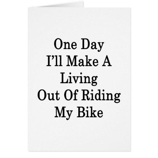 Un día haré A que vive fuera de montar mi bici Tarjeta Pequeña