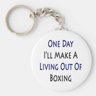 Un día haré A que vive fuera del boxeo Llavero Redondo Tipo Pin