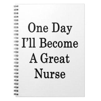 Un día haré gran enfermera libros de apuntes con espiral