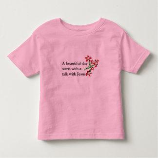 Un día hermoso comienza con una charla con Jesús T Shirt