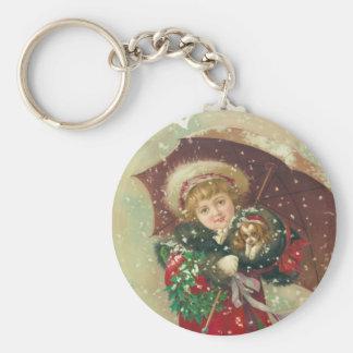 Un día hivernal por Gray Lithograph Company Llavero Redondo Tipo Pin