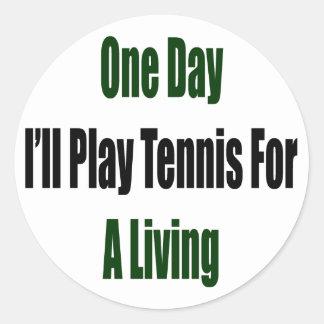 Un día jugaré al tenis para la vida de A Pegatina Redonda