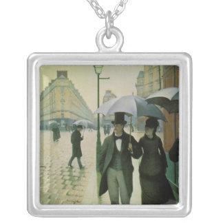 Un día lluvioso en París de Gustave Caillebotte Colgantes
