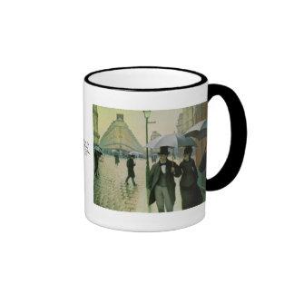 Un día lluvioso en París de Gustave Caillebotte Tazas De Café