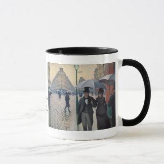 Un día lluvioso en París de Gustave Caillebotte Taza