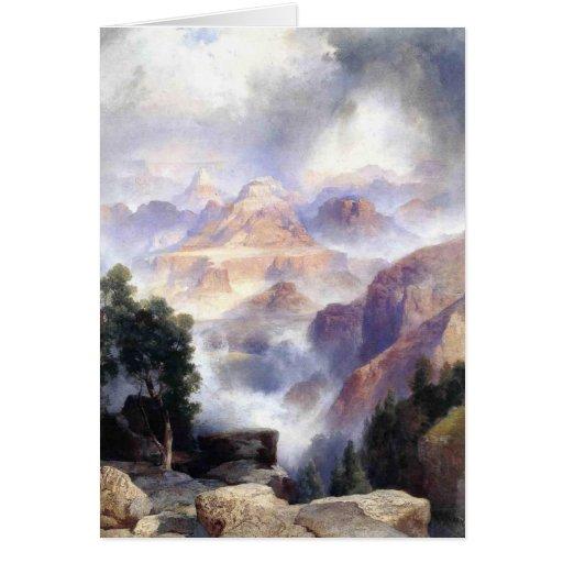 Un día lluvioso, Gran Cañón - 1919 Tarjeta