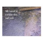 Un día lluvioso, y usted postal