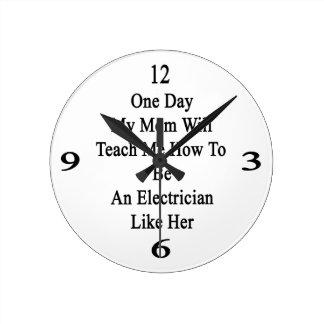 Un día mi mamá me enseñará a cómo ser una reloj redondo mediano