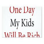 Un día mis niños serán ricos anuncios personalizados