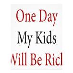 Un día mis niños serán ricos membrete a diseño