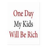 Un día mis niños serán ricos postales