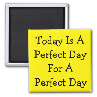 Un día perfecto imán cuadrado