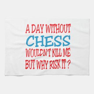 Un día sin ajedrez no me mataría toalla