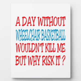 Un día sin baloncesto de silla de ruedas no placas de plastico